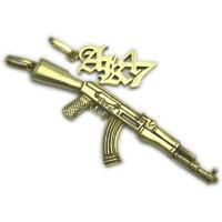 AK47カラシニコフライフルペンダント 真鍮