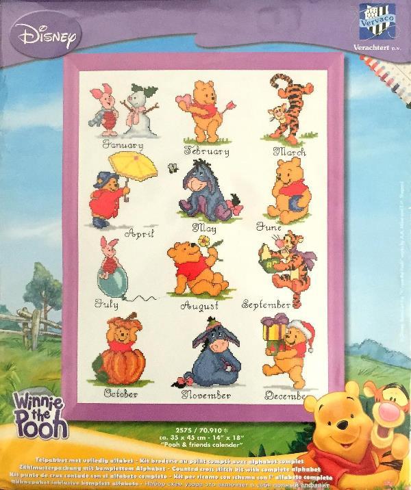 数量限定vervaco クロスステッチ 刺繍キット 257570910 Pooh Friends Calender ディズニー くまのプーさんあす楽送料無料hlsdu手芸インテリア雑貨 Echercher