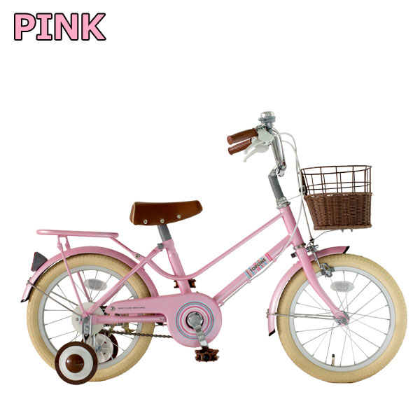 TOPONE 子供自転車 16インチ ピンク