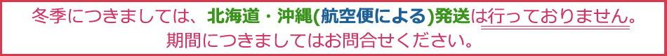 冬季の北海道沖縄の配送について