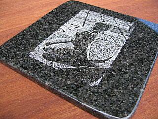 石のデザインマウスパッド はな
