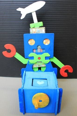 ロボット貯金箱