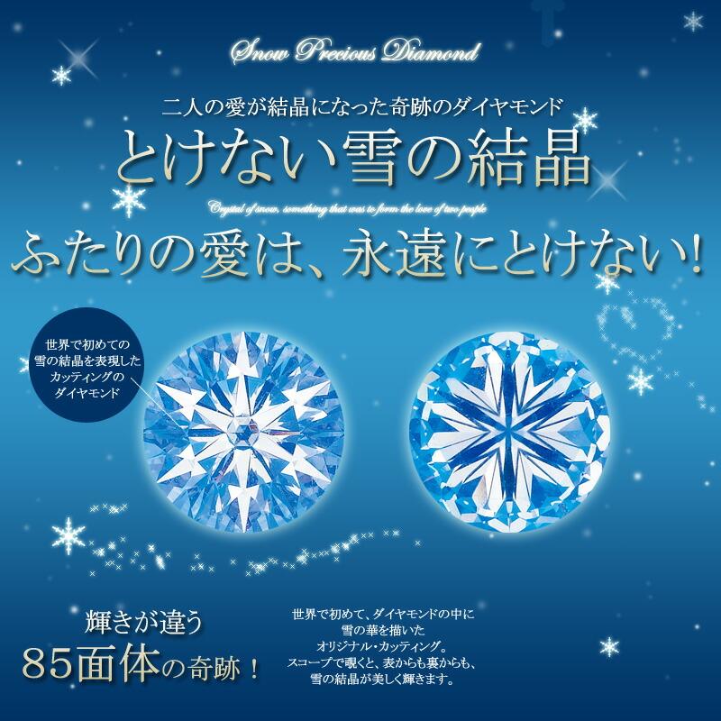 溶けない雪の結晶 85面体の天然ダイヤモンド スノープレシャス・ダイヤモンド