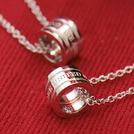 Red thread pair necklace
