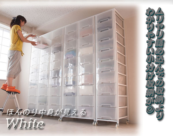大量収納 プラスチック チェスト 2列 9段