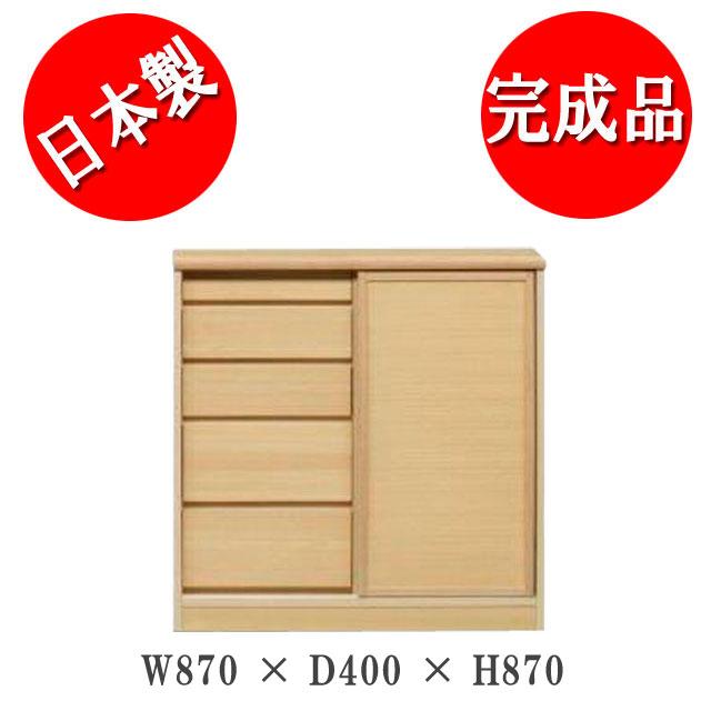 サリナ 引き戸キャビネット90-D40板扉(NA)