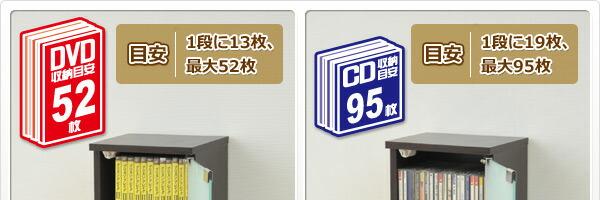 CD、DVDをバッチリ収納