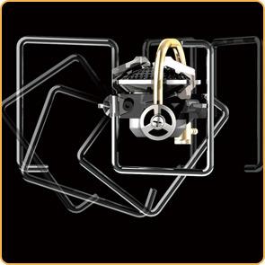 独創的なゴトクの回転により、コンパクト性と耐荷重性を両立しました。収納時はステンレス製のガードバーとしてバーナー本体を守ります。