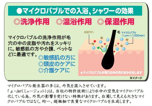マイクロバブルでの入浴、シャワーの効果
