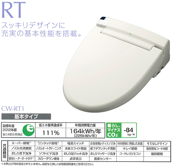 イナックス(INAX)シャワートイレRTシリーズCW-RT1-BN8オフホワイト