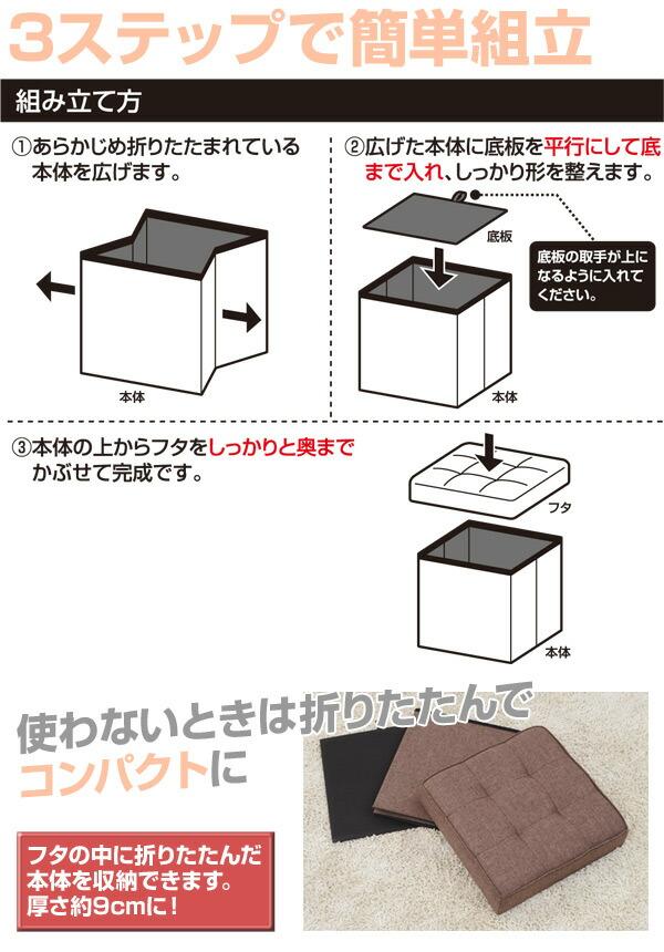 3ステップで簡単組立
