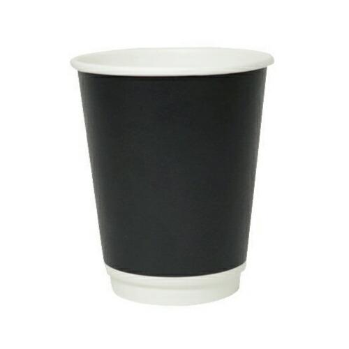 二重断熱紙カップ 8オンス(ブラック)1000個