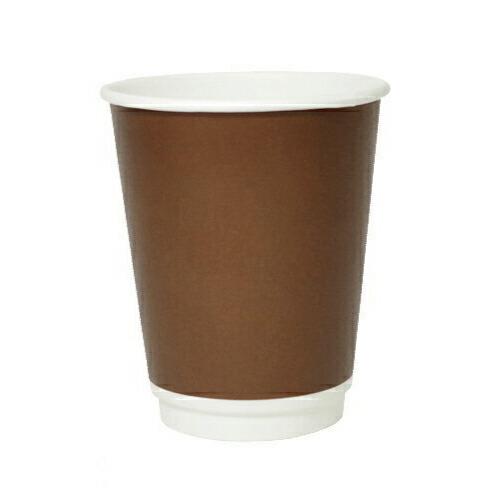 二重断熱紙カップ 8オンス(ブラウン)1000個
