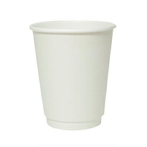 二重断熱紙カップ 8オンス(ホワイト)1000個