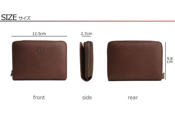 説明6|二つ折り財布 財布 本革 メンズ ラウンドファスナー ファスナー財布 姫路レザー オイルレザー レザー ジッパー 日本製