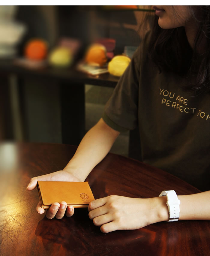 説明3|名刺入れ カードケース メンズ 本革 二つ折り ベーシック 姫路レザー オイルレザー レザー 日本製