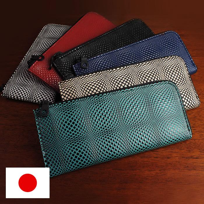 8595e37aded9 長財布 メンズ L字ファスナー 本革 日本製 漆 立体的 幾何学模様 ISURU ...