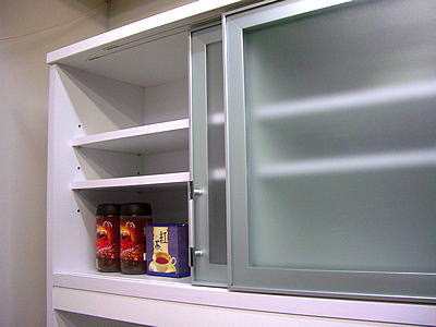 食器棚 アウトレット/120食器棚引き戸モニカ(ホワイト)