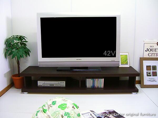 幅150cm テレビ台 ガイヤ アウトレット 完成品 ダークブラウン ウエンジカラー 40型42型46型の大型テレビ薄型テレビ対応 高さ26cmロータイプテレビボード リビングボード AVボード AV収納ラック 国産品 木製 送料無料 大川家具