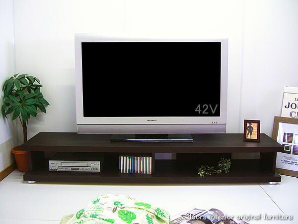 幅180cm テレビ台 ガイヤ アウトレット 完成品 ダークブラウン ウエンジカラー 40型42型46型の大型テレビ薄型テレビ対応 高さ26cmロータイプテレビボード リビングボード AVボード AV収納ラック 国産品 木製 送料無料 大川家具
