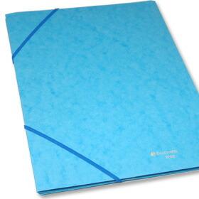 EXACOMPTA エグザコンタ A4ゴム留めファイル 中の書類の厚さが20枚程度であれば、そのままフラップを綴じてゴムバンドで留める事ができます。