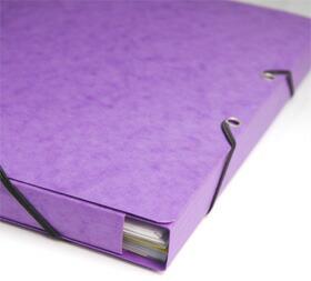 EXACOMPTA エグザコンタ A4ゴム留めファイル マチがあるので折り目部分を変更すれば最大2cm厚(200枚弱)までの書類を入れる事ができます。