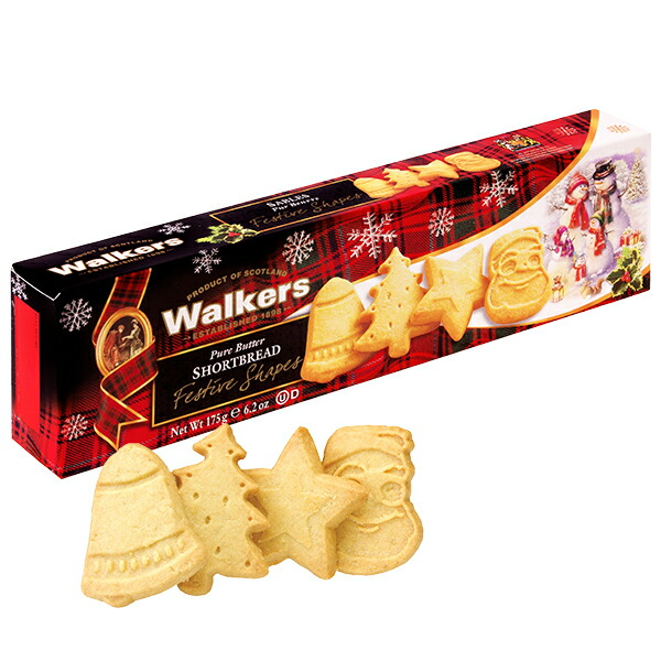 ウォーカー フェスティブ ショートブレッド #1458【イギリス】 クッキー ウォーカー ショートブレッド クリスマス Christmas お菓子 詰め合わせ クリスマスプレゼント Xmas サンタクロース イギリス土産 2019x sa0109