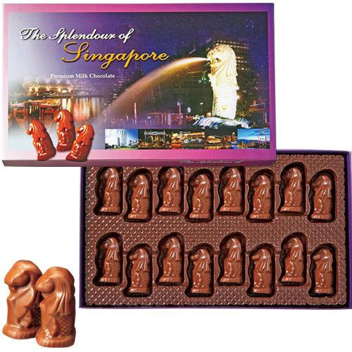 マーライオンミルクチョコ1箱【シンガポール お土産】|シンガポール 土産 チョコレート 東南アジア おみやげ お菓子 sa1204