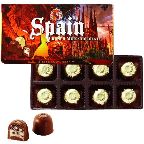 【スペイン お土産】スペイン クランチミルクチョコ1箱|チョコレート【お土産 食品 おみやげ スペイン 海外 みやげ】スペイン チョコレート sa1204