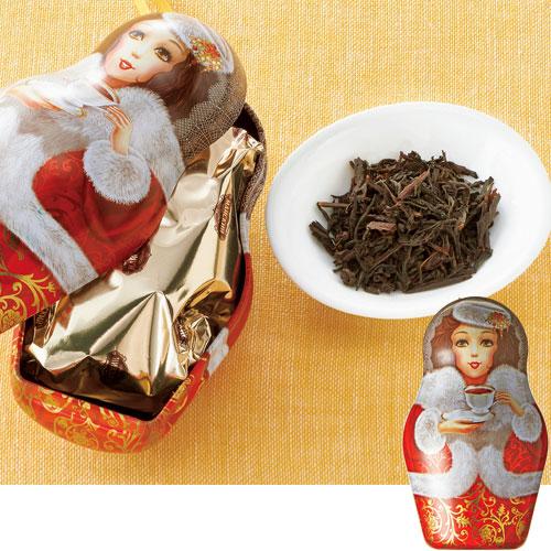 マイスキー マトリョーシカ缶入り紅茶【ロシア お土産】|オンライン飲み会|紅茶 ロシア人形 マトリョーシカ ロシア土産 おみやげ sa1204