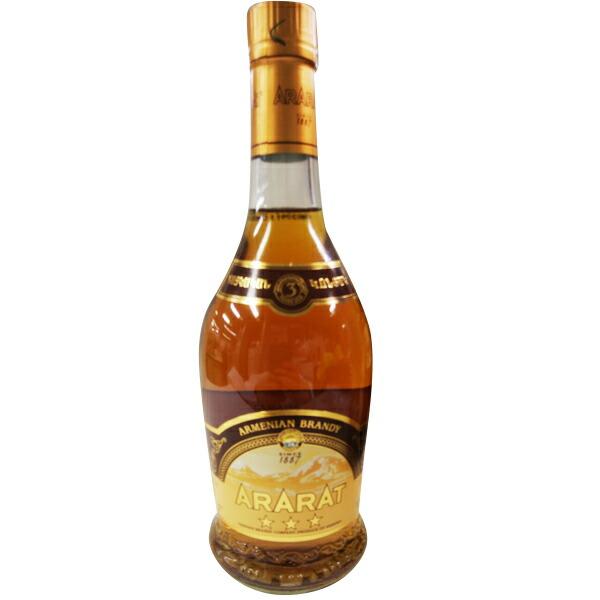 【在庫処分】【アルメニア お土産】アララット 3スター ブランデー 1本(500ml)|海外土産 アルコール お酒 sa1019