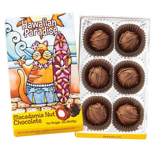 ハワイアンパラダイス マカダミアナッツチョコ6粒入1箱