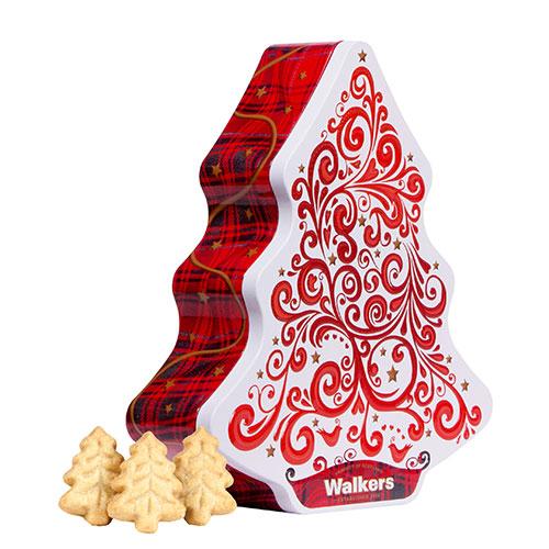 ウォーカー クリスマスツリー缶(レッド&ホワイト)