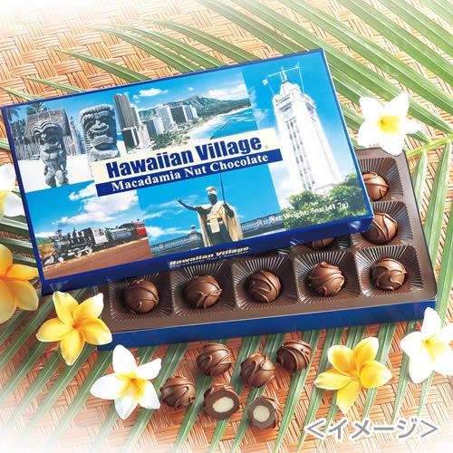 ハワイ HAWAIIAN VILLAGE マカダミアナッツチョコ15粒入 6箱セット(おまけ付)