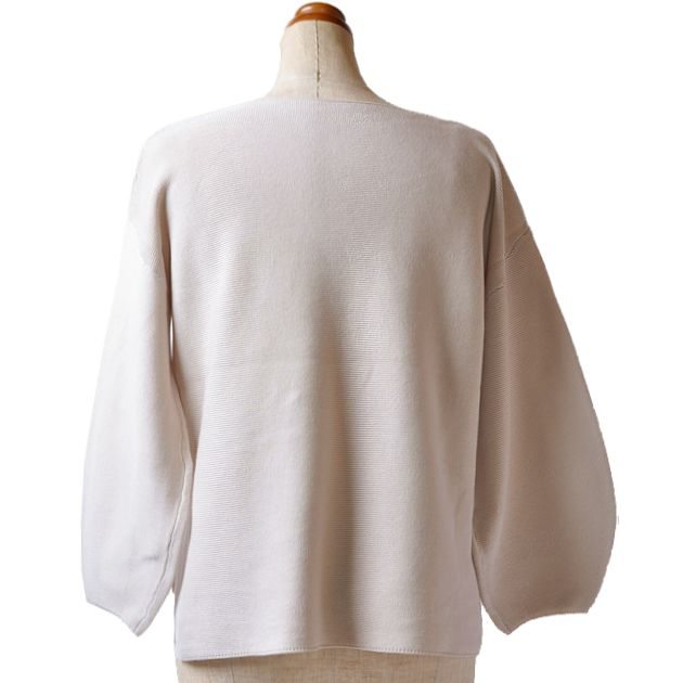 ミラノリブバルーン袖セーター