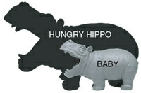ハングリーヒポとヒポベビーの大きさ比較