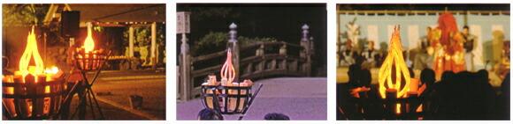 炎の演出 かがり火ライトのフレームネオンは様々なシーンに