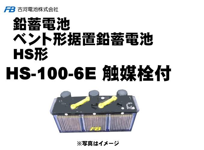 【受注生産】HS100-6E触媒栓付 【古河電池】据置鉛蓄電池HS形 6V 1