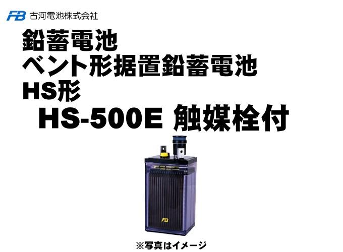 【受注生産】HS500E 触媒栓付【古河電池】据置鉛蓄電池HS形(バッテリー) 2V 1