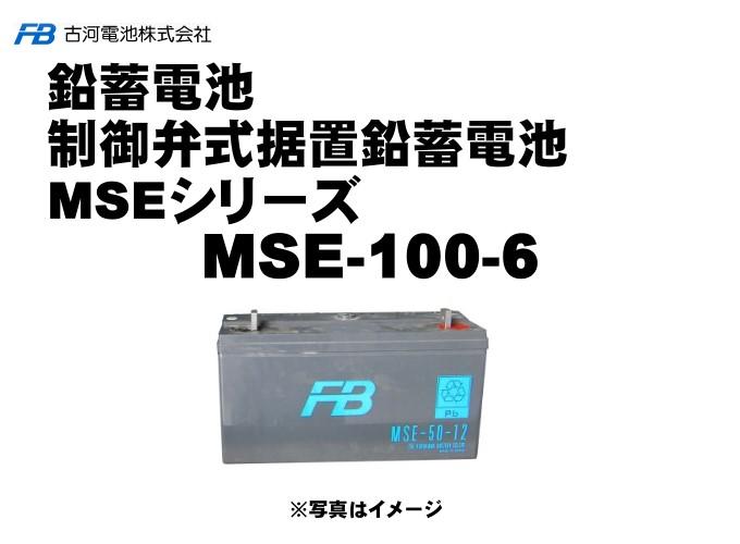 【受注生産】MSE100-6【古河電池】制御弁式据置鉛蓄電池(バッテリー) 6V 100Ah 1