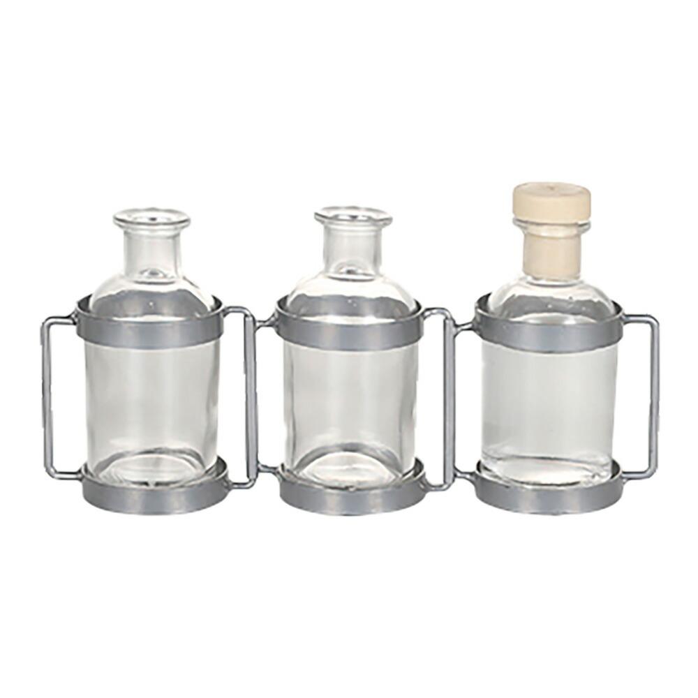 アロマディフューザー ベース 3ボトル シルバー(リリィ/シーソルト)