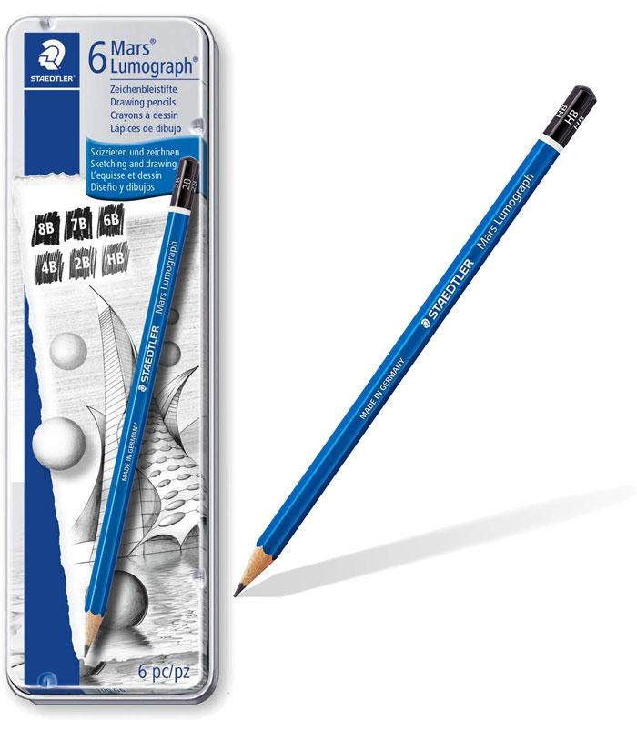 ステッドラー ルモグラフ製図用高級鉛筆 6硬度セット