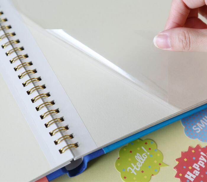 台紙に直接文字が書けます。