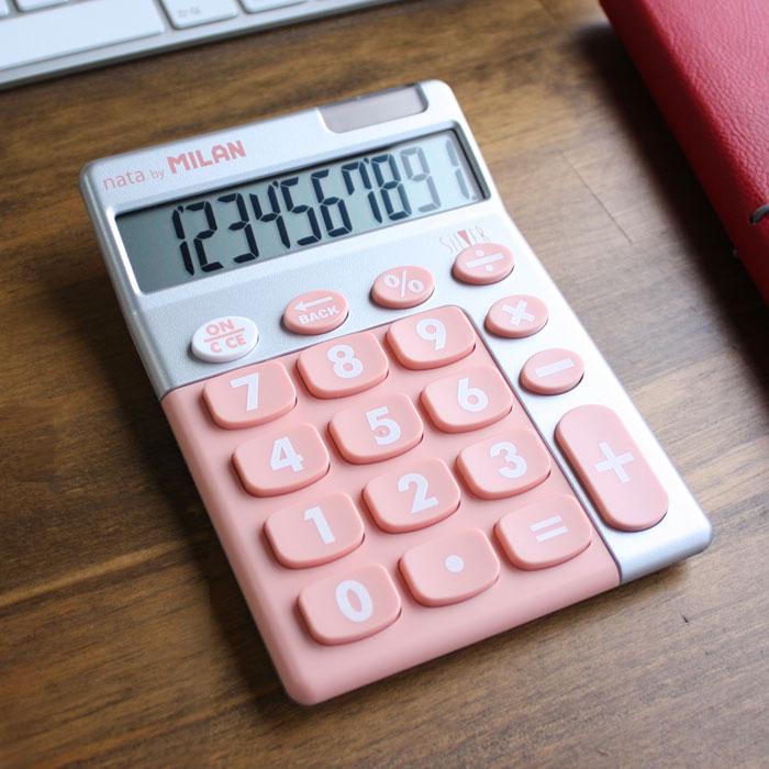 A.C Milan Blister calculadora Silver rosa White