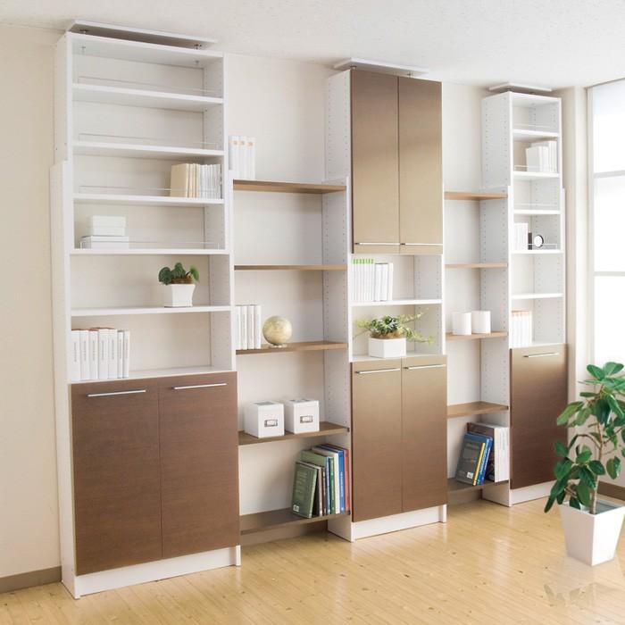 壁面収納 薄型本棚 PROVA2 プローバ2 扉付き 本棚