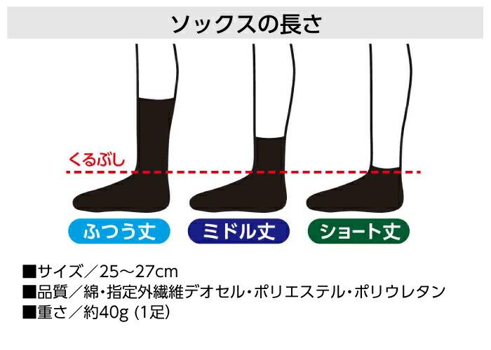 【消臭靴下・作業用】デオセル 詳細