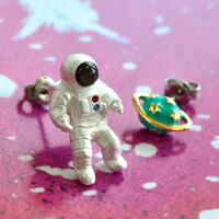 ピアスorイヤリングが選べる 宇宙飛行士イヤーアクセサリー