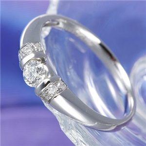 0.28ctプラチナダイヤリング 指輪 デザインリング 17号 ファッション リング・指輪 天然石 ダイヤモンド レビュー投稿で次回使える2000円クーポン全員にプレゼント