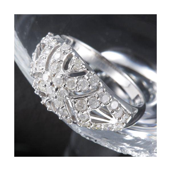 10000円以上送料無料 K18 1ctアンティーク調パヴェリング 15号 ファッション リング・指輪 天然石 ダイヤモンド レビュー投稿で次回使える2000円クーポン全員にプレゼント