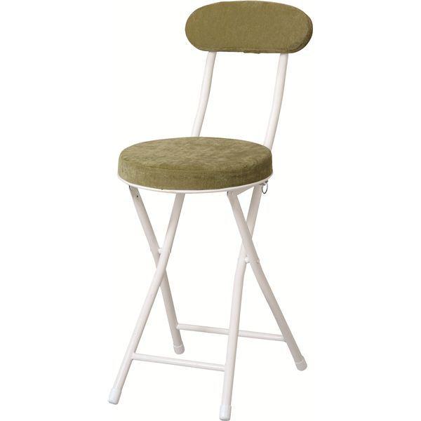 折りたたみ椅子(ロンダチェア) スチール PC-32GR グリーン(緑) 生活用品・インテリア・雑貨 インテリア・家具 椅子 折りたたみチェア レビュー投稿で次回使える2000円クーポン全員にプレゼント